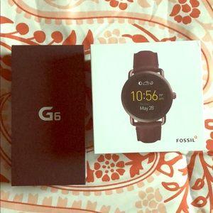 LG G6 & Fossil Smartwatch